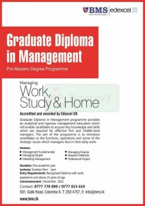 Graduate Diploma in Management – Pre Master Degree Programme