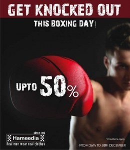 Hameedia Discounts up to 50% on 26th 27th and 28th December 2012