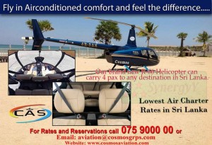 Helicopter Charter Services in Srilanka – Cosmos Aviation