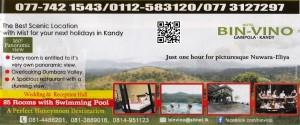 Hotel Bin-Vino - Gampola, Kandy