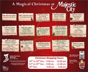 Majestic City Christmas Events from 8th to 24th December 2012