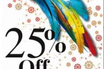 Mondy 25% Off on 30th & 31st Dec, 2012