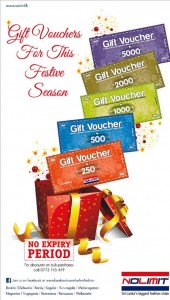 NOLIMIT Gift Vouchers – No Expiry Period