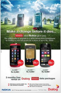 Nokia – Dialog Nokia Asha Smart phones on exchange offer in Srilanka