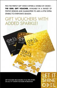 ODEL Gift Vouchers for this Seasonal Greeting