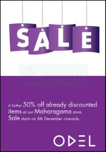 ODEL Sale – More than 50% Discount at Maharagama Store from 8th December 2012