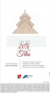 Rocell Discounts Upto 20% on Tiles – Dec 2012