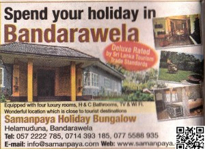 Spend your Holidays at Bandarawela