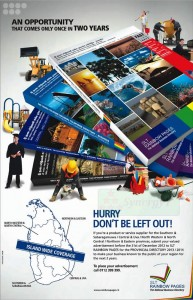Srilanka Telecom Rainbow Pages Advertisement for Provincial Directory 20132014