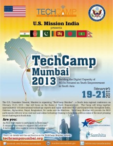 TechCamp Mumbai 2013 – Digital Capacity of NGOs focus on Youth Development in South Asia
