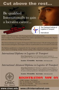 The Charted Institute of Logistic & Transport International Qualification with CINEC Srilanka