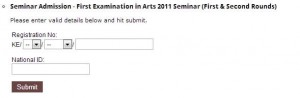University of Kelaniya - Bachelor of Arts (General) Degree First Examination (External) – 2011 Seminars