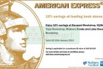 10% saving for American Express Credit Card at leading Books Stores in Srilanka – Till 15 January 2013