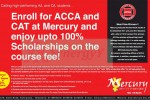 100% Scholarships for ACCA Course Fee for high performed student in A/L or O/L– Mercury Institute