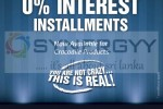 12 Month Interest Free Installment for Crocodile Products in Sri Lanka
