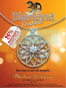 25% Discounts on 3D Diamond Pendants from Bullion Exchange Jewellers