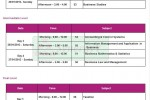 AAT Srilanka January 2013 Examination timetable