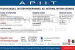 APIIT Degree Programmes New Intakes – January 2013