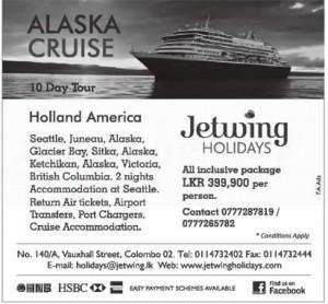 Alaska Cruise 10 day tour – Rs. 399,900.00 per Person (All Inclusive)