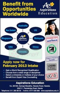 Aspirations Education February 2013 Intakes