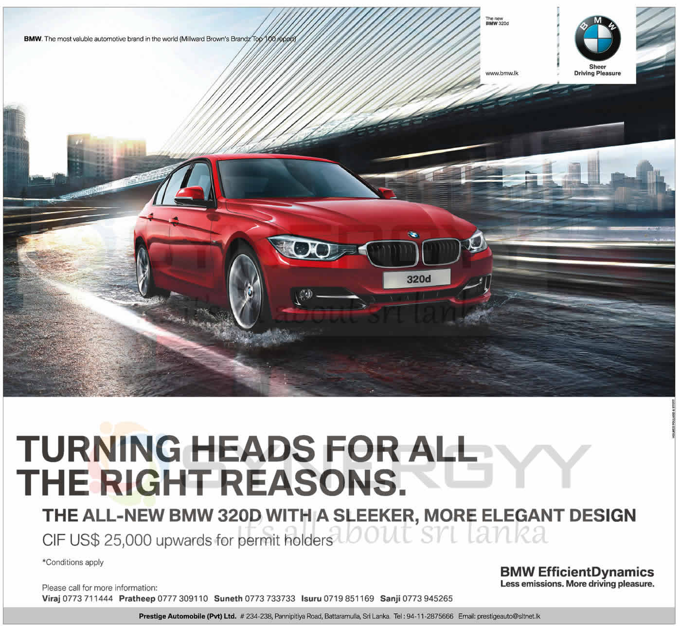 Bmw Prices And Promotions In Sri Lanka Synergyy