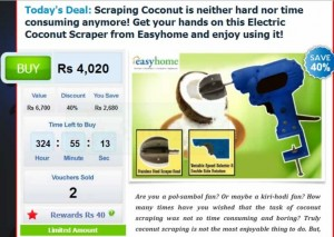 Buy Electric Coconut Scraper through Anything.lk for Rs. 4,020.00