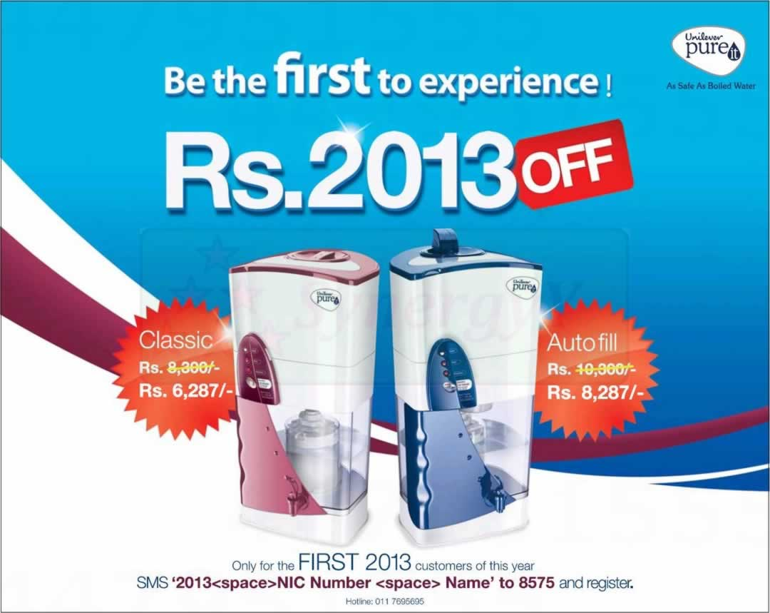 I Am Sri Lankan Synergyy Page 72 Pure It Classic Buy Unilever Water Filter With Rs 2013 Off