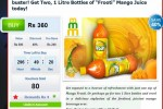 Buy two, 1 Liter Frooti Mango Juice from anything.lk and save 40%