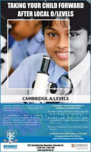 Cambridge ALevels 2015 in Srilanka by Wycherley International School
