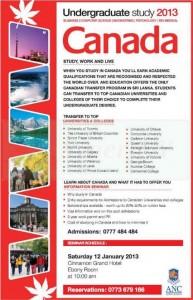 Canada Undergraduate study 2013 Intakes