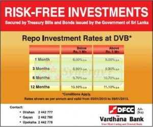 DFCC Banks Repo Investment Rates at DVB