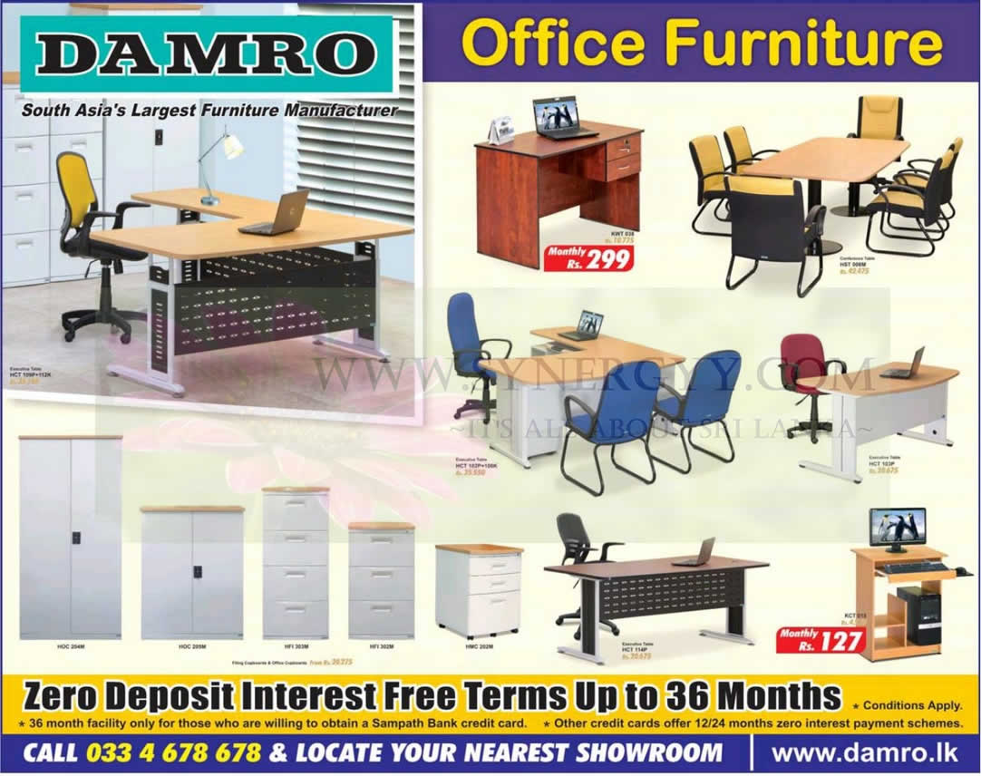 Damro furniture price list in sri lanka in home office for House and home furniture price list