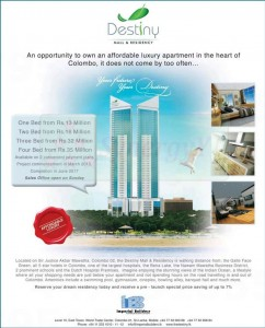 Destiny Mall & Residency in Colombo – Prices from Rs. 13 to 35 Million – Pre Launch Special Saving 7%