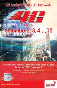 Dialog 4G LET Network in Srilanka