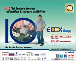 EDEX Expo 2013 Exhibition in Colombo & Kandy