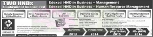 Edexcel HND in Business – Management & Human Resource Management Programme by HRMI