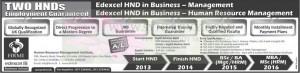 Edexcel HND in Business – Management & Human Resource Management Programme by HRMI