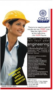 Engineering Degree Programme CINEC Campus – New Intakes