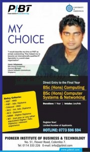 Final Year  B.Sc (Hons) Computing, B.Sc Computer System & Networking Degree Programme by PIBT