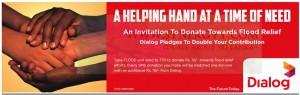 Flood Relief Donation through Dialog
