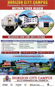Horizon City Campus Degree Programme for 2013 New Intakes
