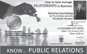How to Manage Public Relationship in Business – Workshop in Colombo