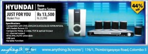 Hyundai Home Theater System from Rs. 13,500.00 After 44% off from Anything.lk
