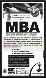 ICBT MBA Degree Programme – January 2013