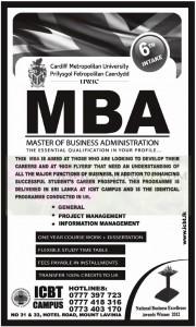 ICBT MBA Degree Programme – January 2013