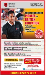 Information Technology Degree programme in Colombo – Informatics Institute of Technology