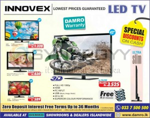 Innovex Damro LED TV from Rs. 21,200 onwards