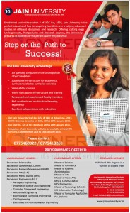 JAIN University in India, Degree Programmes