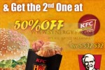 KFC Lunchtime Combo 50% off for 2nd Order – Valid till 31st January 2013