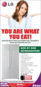 LG Side by Side Refrigerators for Rs. 234,900.00 by Abans – January 2013